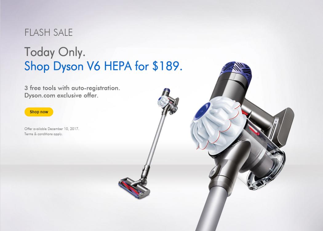 다이슨 V6 HEPA(헤파) $189 핫딜입니다.