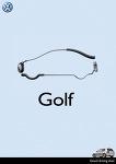 폭스바겐 골프 인쇄광고. 정말 멋진 발상^^ 따라갈 수가 없네요 ㄷㄷ