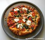 피자! 페스토 닭가슴살 피자! 모짜렐라 토마토 바질 피자!!