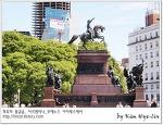 [적묘의 아르헨티나]부에노스 아이레스,산마르틴 광장,아름다운 보라 벚꽃, 자카란다,Jacaranda