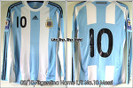 "08/10 Argentina Home L/S No.10 ""Messi"" Match Issued (Vs. Columbia 06 Jun 2009) (SOLD OUT)"