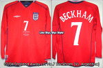 "02/04 England Away L/S No.7 ""Beckham"" (Vs. Argentina 6 Jul 02) (SOLD OUT)"