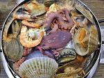 입맛 돋게하는 마라도 해물탕 해물찜 (자연산 구룡포막회)