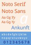 본고딕(노토산스: Noto Sans) 구글 웹폰트