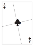 카드로 만든 사라지는 퍼즐 (도형 소실 퍼즐) 1 도안