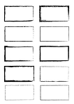 다양한 색상의 네모 모양 클립아트 모음