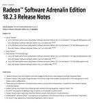 AMD, 게임 성능 향상과 이슈 수정 라데온 소프트웨어 아드레날린 에디션 18.2.3 공개