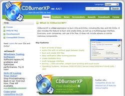가볍지만 강한 CD/DVD 무료 레코딩 프로그램 CDBurnerXP