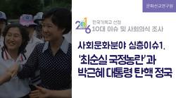 2016년 사회문화계 10대 이슈 - 심층이슈1. '최순실 국정농란'과 박근혜 대통령 탄핵 정국