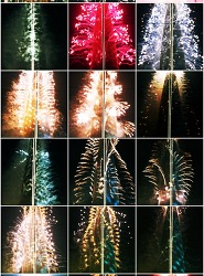 롯데월드타워 불꽃놀이 모습