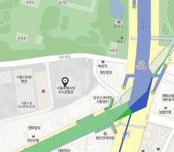 덕수궁을 조망할 수 있는 정동전망대 - 서울특별시청 서소문별관 서소문청사 1동 13층