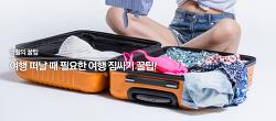 [생활의 꿀팁] 내일로, 해외여행 시 필수! 여행 짐 싸는 방법!