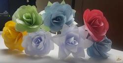 꽃 종이접기 장미 4
