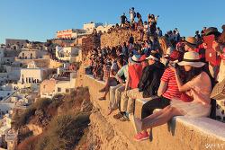 그리스 산토리니 여행(12), 세상에서 가장 아름다운 이아마을의 석양