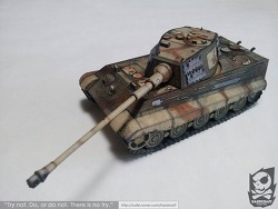 [종이모형] King Tiger 1:35 Zimmerit Version made by Superdunk