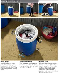 페달 세탁기, 가난한 사람들의 고단함을 덜어주는 디자인(GiraDora : human-powered washer & spin dryer)