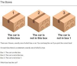 3개의 상자 중 자동차가 있는 것은?