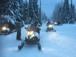 [알래스카 겨울 여행] 스노우모빌 - Snowmobile [페어뱅크스 겨울 여행] [알래스카 허니문 투어] [알래스카 극야 여행]