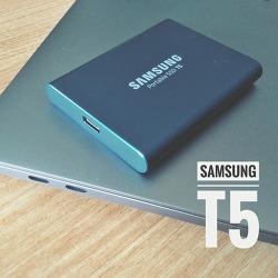 삼성전자의 신상 포터블 SSD, T5 리뷰 후기 (맥북과 연결 사용)