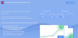 페이스북광고 퍼포먼스를 예측할 수 있는 'Facebook Ads Performance Prediction Tool'
