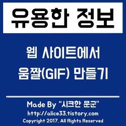 웹 사이트에서 움짤(GIF) 이미지 만들기