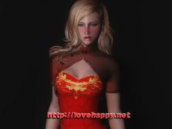 스카이림 의상 - 차이나 드레스 의상 tda luka china dress skyrim mod