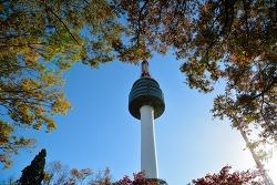 가을 단풍이 물든 서울남산타워 남산 N타워