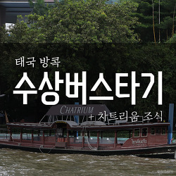 태국 방콕 #3 수상버스타기 + 차트리움 조식