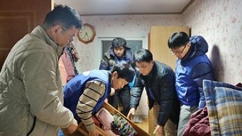삼성전자 온양캠퍼스 하야로비 봉사팀의 따뜻한 봉사활동 현장