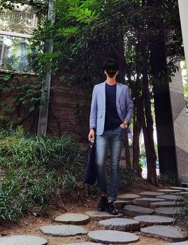 남자 가을 패션 : 데일리룩 코디 [마인드브릿지] 남자 자켓 + [보세] 남자 청바지 코디 with 캐주얼 구두
