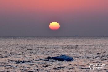 강릉 강문해변 일출, 아름다운 바다 그리고 떠오르는 태양