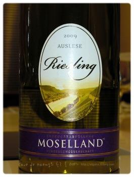 독일의 협동조합에서 생산된 달고 부드러운 와인 - Moselland Riesling Auslese 2007