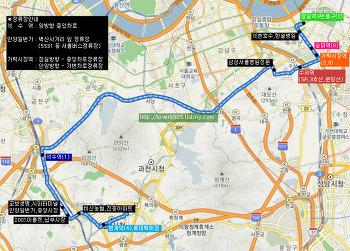 삼영운수 평촌영업소 M5333번 버스 (평촌,범계역-안양일번가,석수역-삼성서울병원,수서역-가락시장,잠실역)
