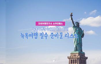 [뉴욕여행] 뉴욕여행 시 꼭 챙겨가야 할 필수 준비물 4