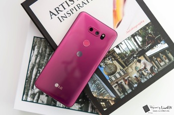 LG V30 라즈베리 로즈 색상 디자인 톺아보기