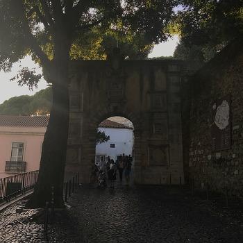 포르투갈 리스본 여행 상 조르즈 성에서 야경을 보다.