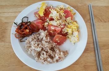 집밥-토마토계란볶음(초간단 아침메뉴)