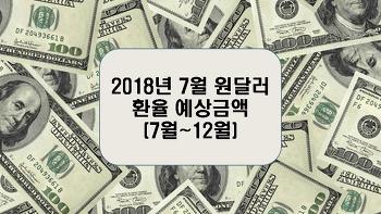 2018년 7월 원달러 환율 예상금액(7월~12월)