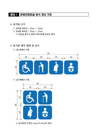 [행정안전부시행]장애인화장실 표식 개선 기준