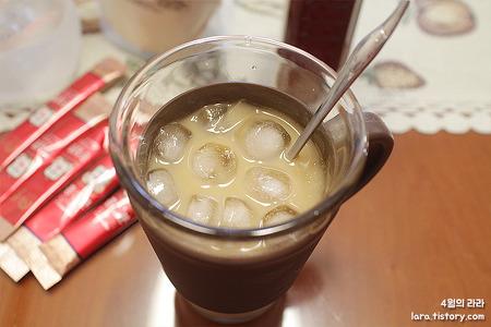 홍삼분 들어간 건강한 미숫가루 한 잔!