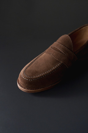 SANDERS - Aldwych Polo Snuff Suede 샌더스 페니로퍼 Penny Loafer