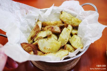 감자요리 웨지감자 만들기 + 유자차