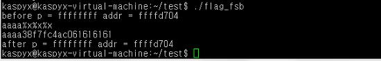 포맷 스트링 버그(format string bug) 공격시에 플래그(flag)사용하기