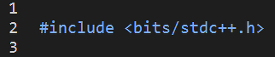 bits/stdc++.h 헤더파일