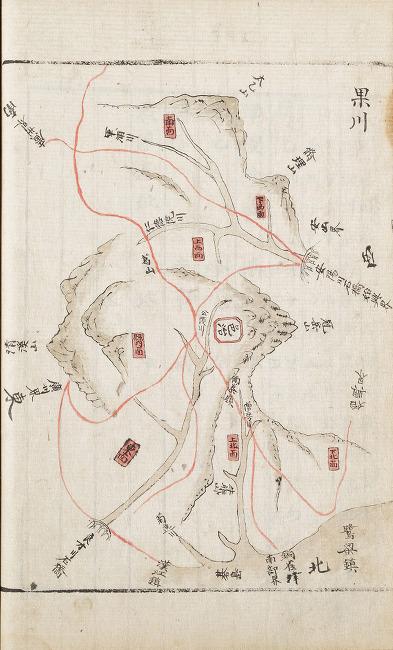 1843년 과천현지도-안양권(경기지,규12178)