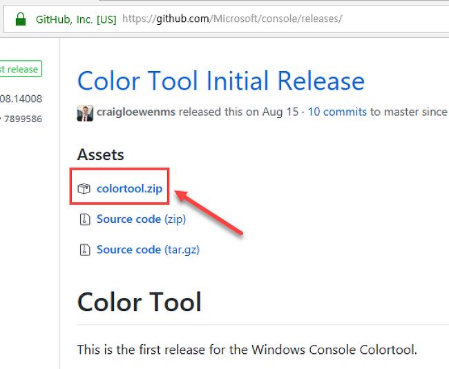 Windows Console ColorTool: 명령 프롬프트(cmd) 색깔을 내맘대로 바꿔보자
