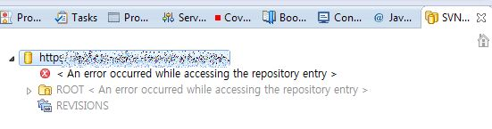 An error occurred while accessing the repository entry