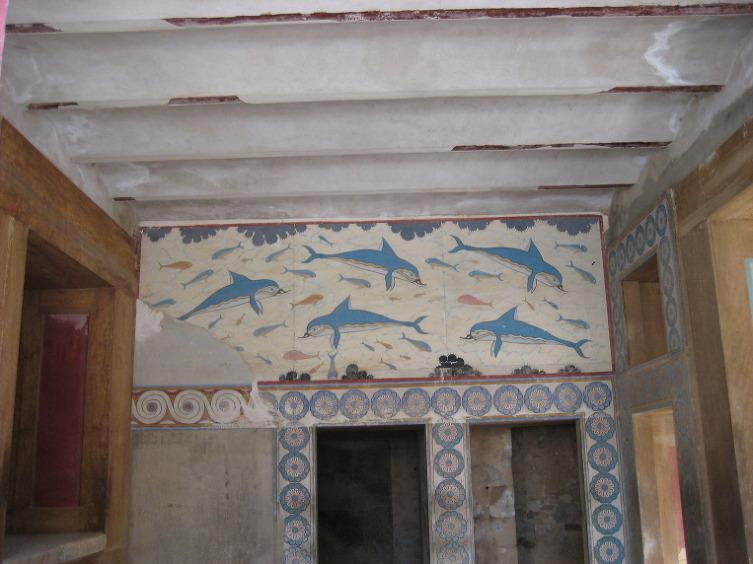 돌고래를 그린 프레스코화