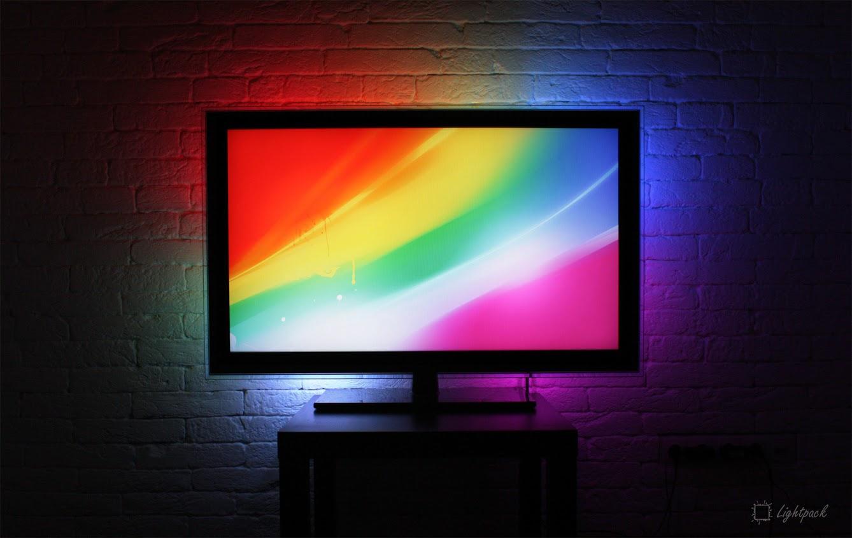 Самодельная фоновая подсветка телевизора от USB 87