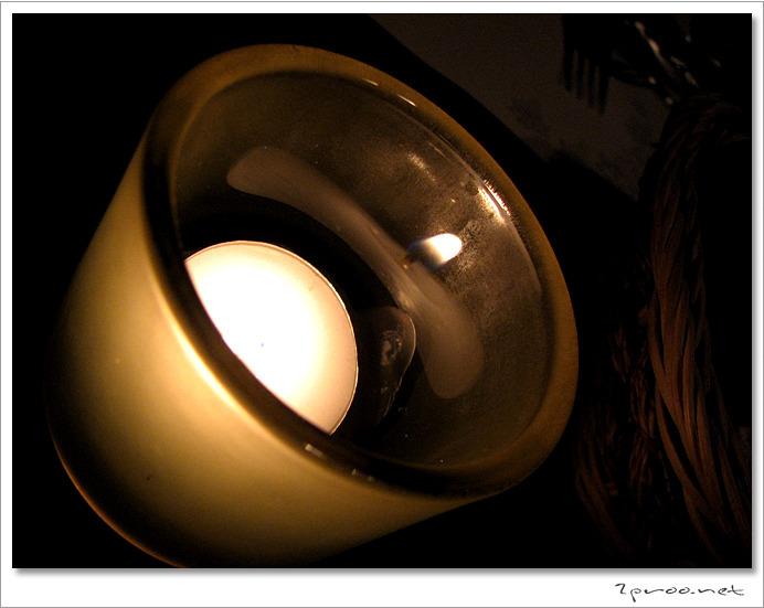 와인 전문 레스토랑 라투르 촛불사진